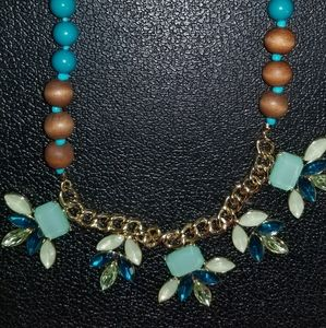Necklace multicolor wood beads